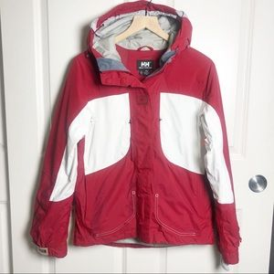 Helly Hansen Snowboard Ski Jacket red and white S